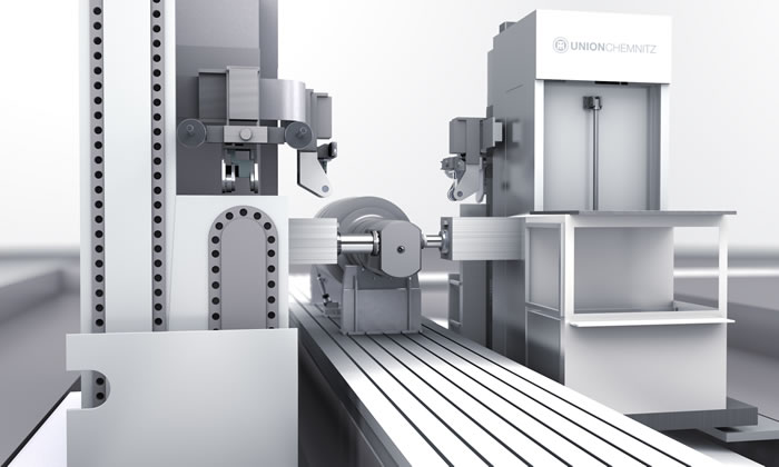 Special machine concept for roll neck milling
